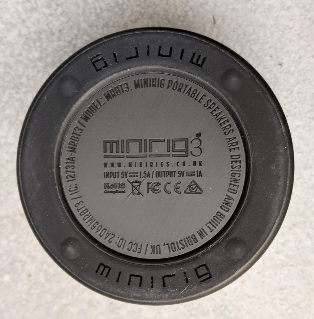 Base of the Minirig 3