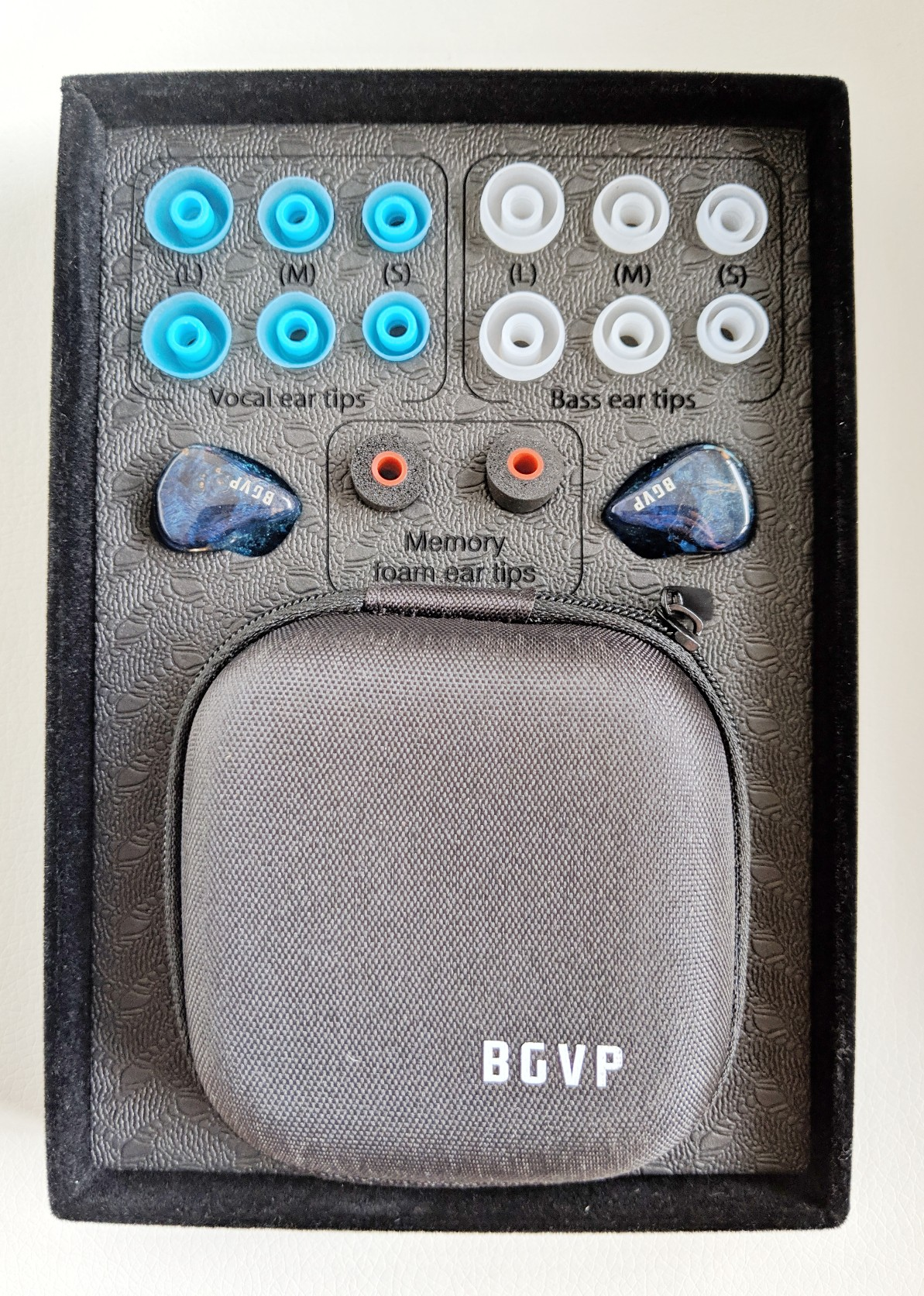 BGVP DH3 Accessories - Eartips and case