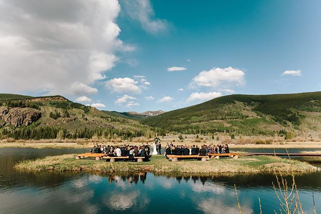 No matter how many weddings we do in Colorado, gorgeous ceremony sites always blow us away. Meghan and Ian's Camp Hale wedding is on the blog today. We just love this couple and couldn't be more excited to share their photos with you! #lizzieandmarco
