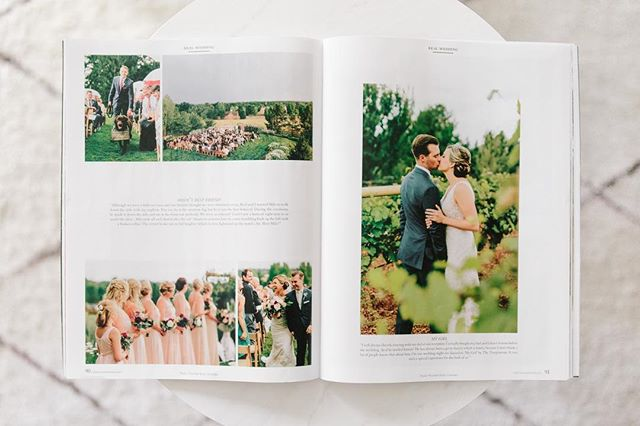 We always LOVE seeing our photos in print! Thank you so much to @rockymtnbride for featuring Kelly + Reid's gorgeous Tuscan-Inspired Wedding in your Spring/Summer issue! We love getting to relive this gorgeous day through this great spread. 💛 #lizzieandmarco