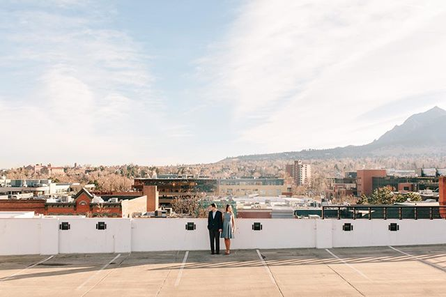 It's not every day a couple runs all over Boulder with you, chasing unique rooftop views. Jay and Emily get married today and we can't wait to celebrate this fun and adventurous couple! #lizzieandmarco