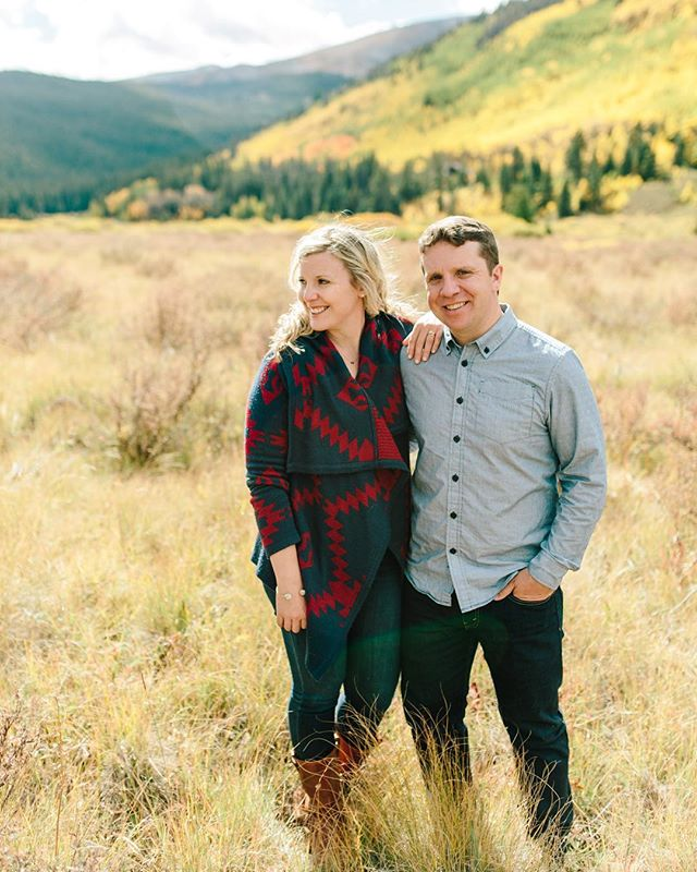 Last September, we chased fall colors with Sally and Corey in Breckenridge. Today, we're celebrating their wedding in Vail! #lizzieandmarco
