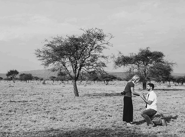 Five years ago today, Marco proposed to me in Kenya, outside of the Maasai Mara. What an adventure it's been. 💛 #engageaversary #kenyabelieveit