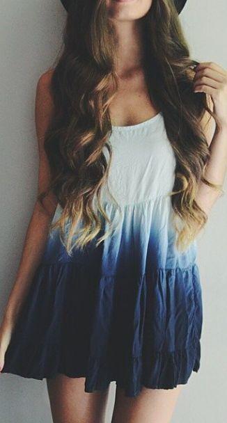 Tie-Dyed Boho Dress