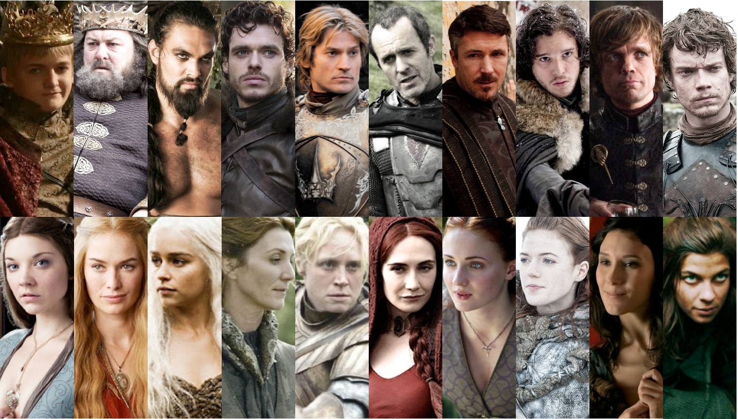 A Song of Ice and Fire contains gritty, intense characters.