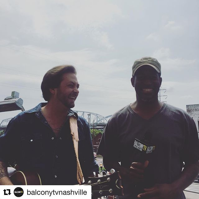 Had a great time on @balconytvnashville with @poppacrow. #nashville #music #balconytv