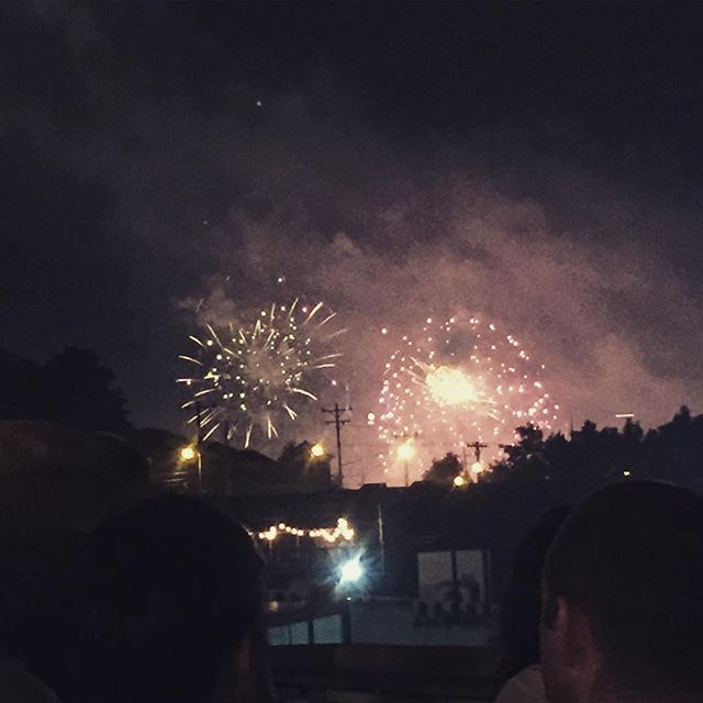 View of the fireworks from @thebasementeast was awesome last night!