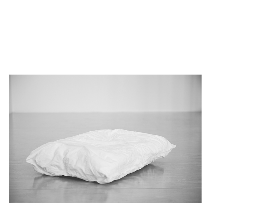 Cast of a crumpled pillow, 2018 (plaster)