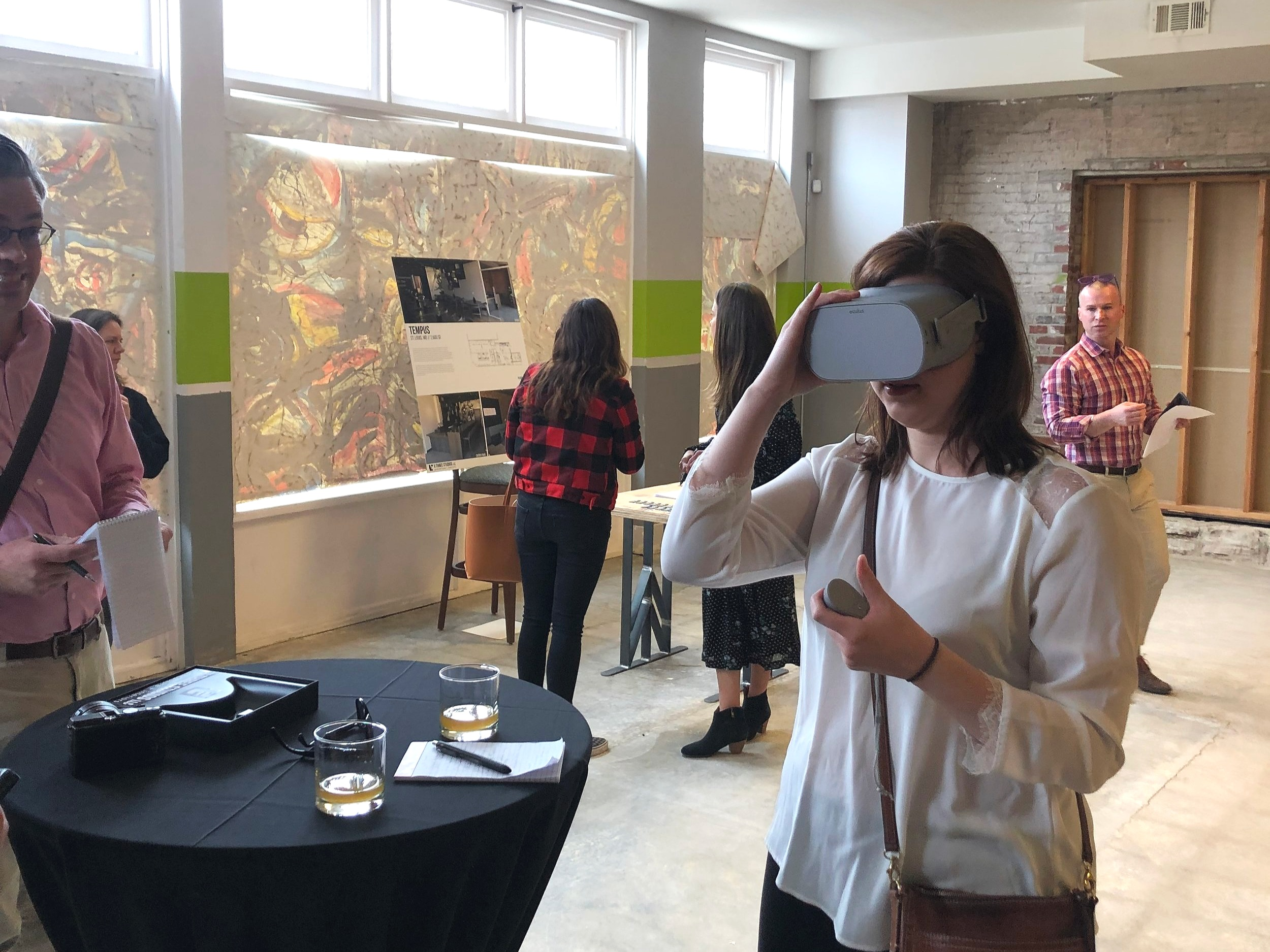 Food writers preview the space in VR