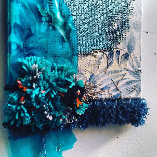 Detail of texture studies for upcoming installation project. #carpet #plastic #paint #fabric #assetsforartists