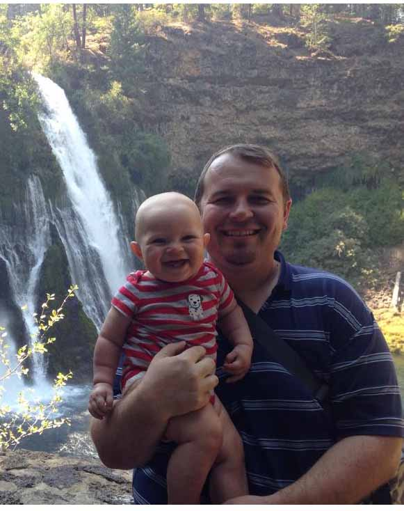 Aaron Hatch and his son, Isaac