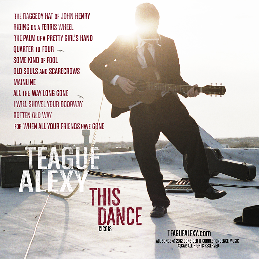 THIS DANCE, Back Cover