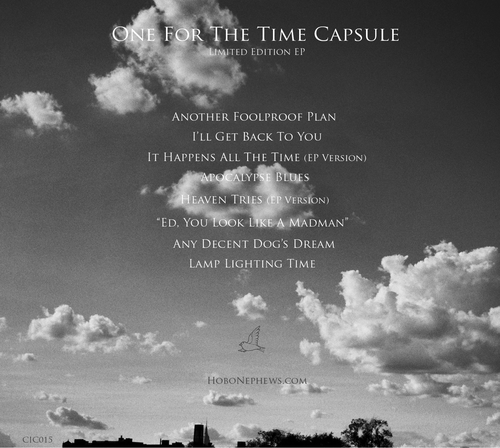 ONE FOR THE TIME CAPSULE, Back Cover