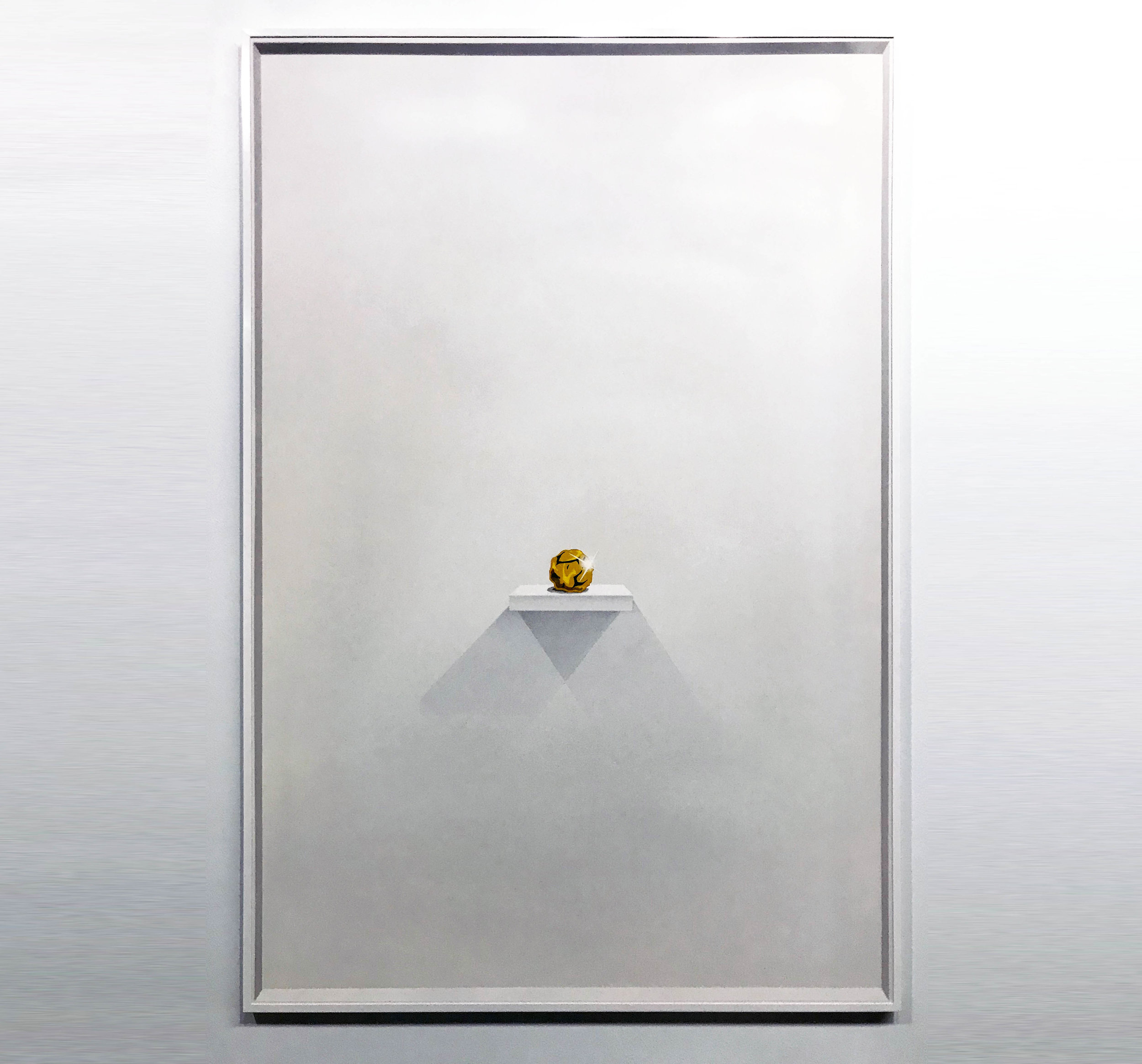 """E.LEE - """"Gold Nugget on a Shelf"""" - 32"""" x 48"""" Spray paint and acrylic on aluminum panel"""