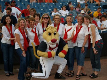 The Nashville Belles perform The Star-Spangled Banner at a Nashville Sounds game, 2009.