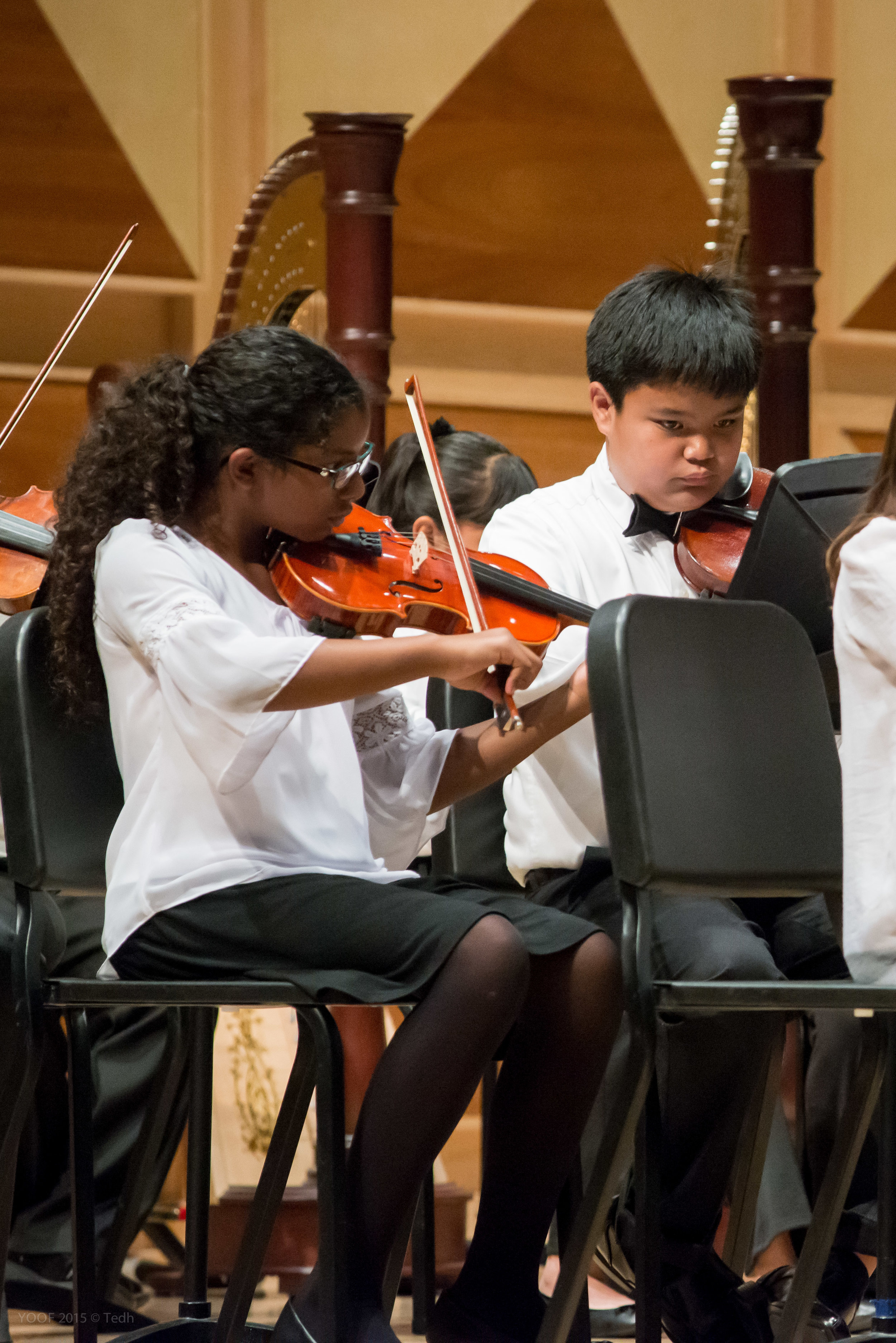 YCO violinists