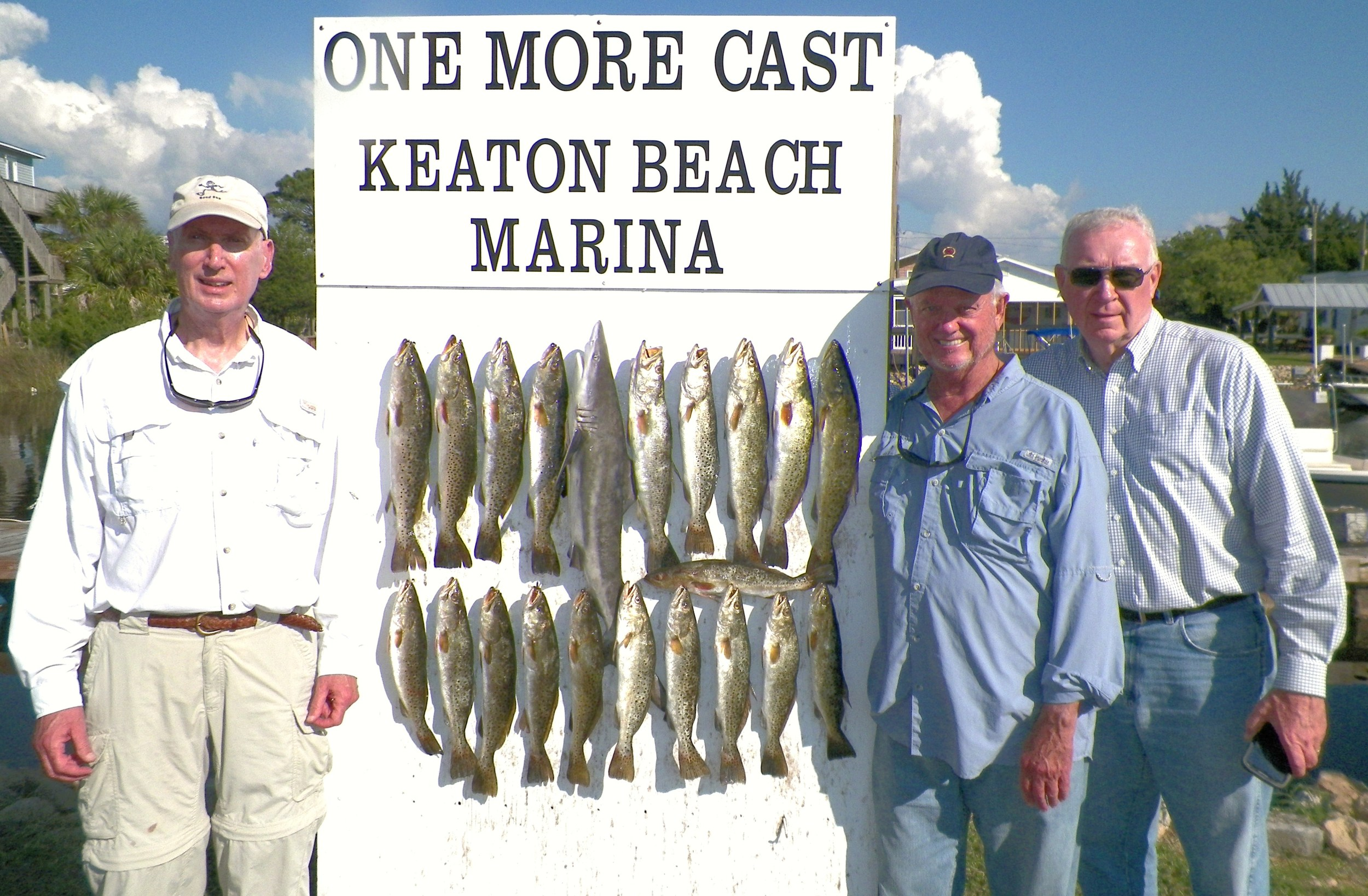 Harry Dorsey, Mike Johnston and Larry Sculley of Albany, Ga took three hours to land this catch!