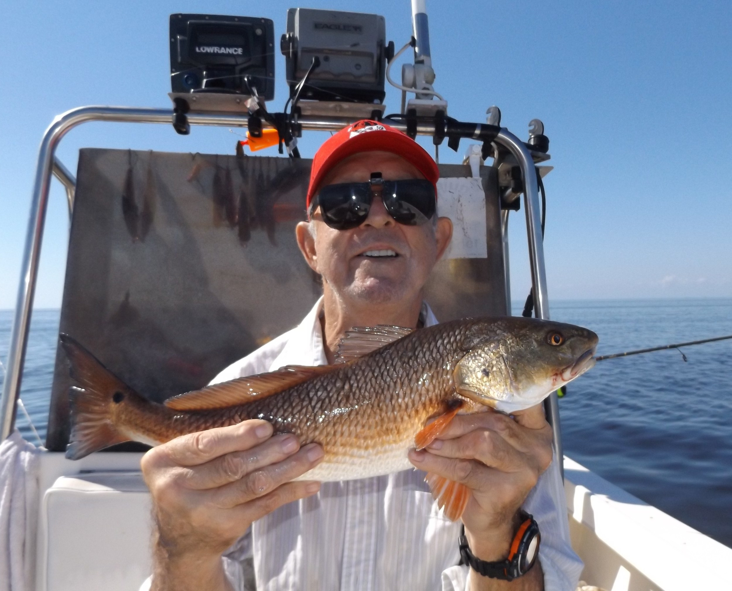 Coy Crider of Ray City , Ga. with his first-ever redfish!