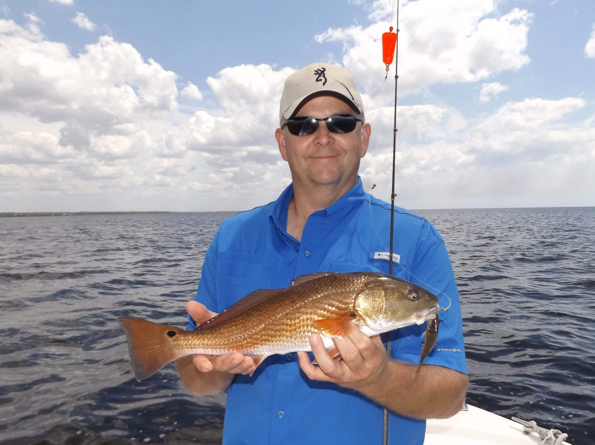 ken baldree of ADEL, GEORGIA WITH HIS FIRST-EVER REDFISH
