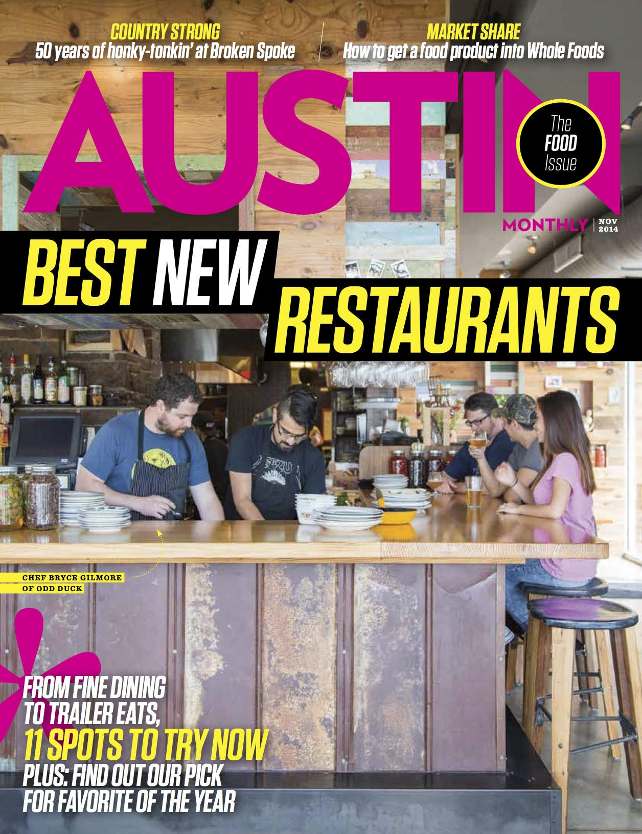 The Extraordinary 11: Best New Restaurants 2014    Austin Monthly,  Nov 2014
