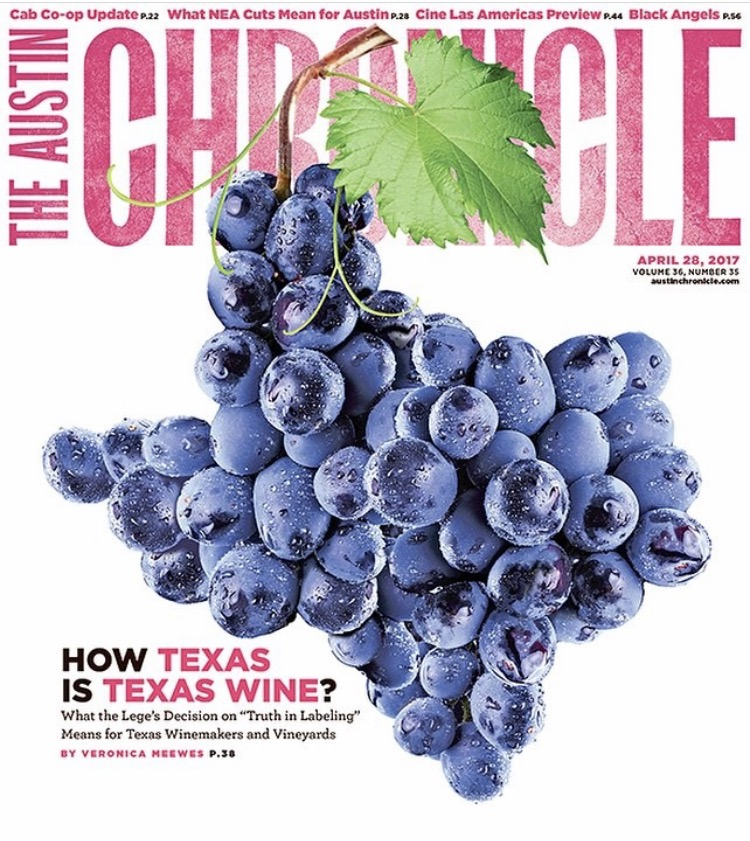 How Texas is Texas Wine?   Austin Chronicle , April 28 2017