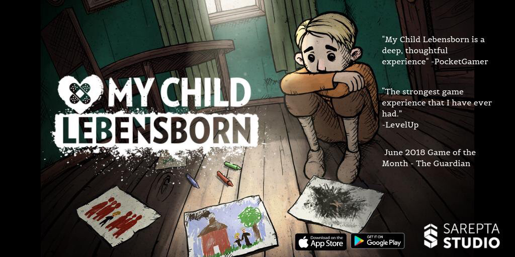 My Child Lebensborn - Sarepta Studio / TeknopilotEditor (Freelance)WINNER for 'Game Beyond Entertainment' in the BAFTA Games Awards 2019
