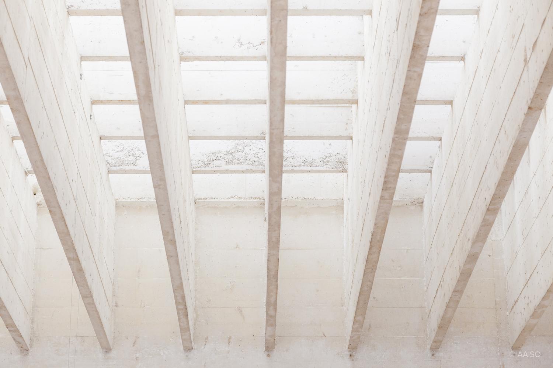 Roof structure detail, Nordic Pavillion by Sverre Fehn