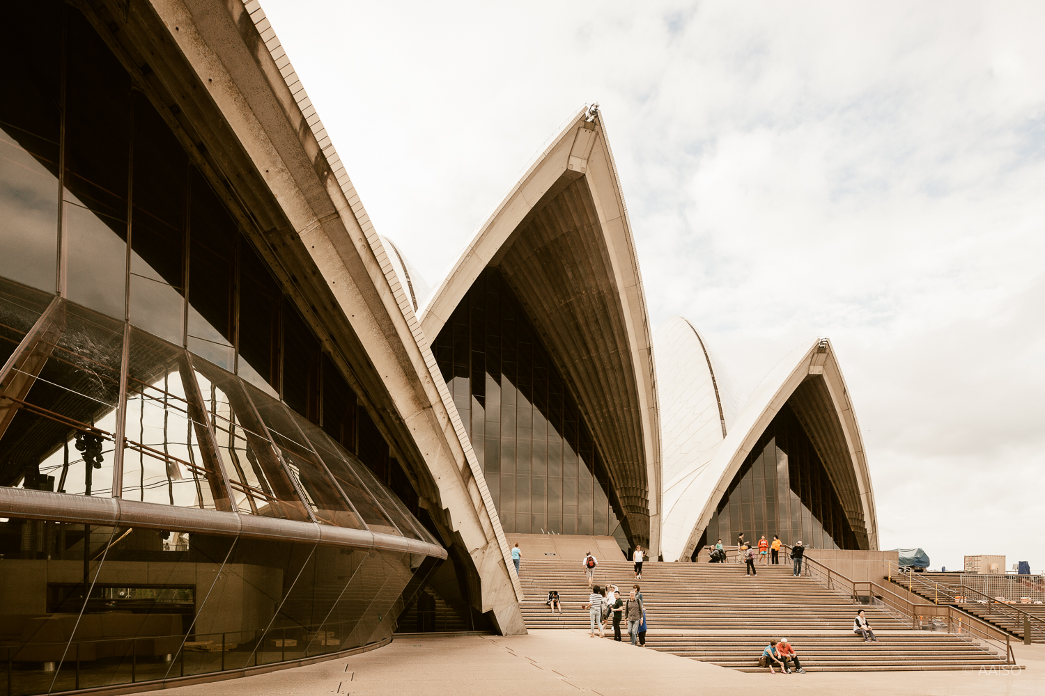Architect Jørn Utzon's famous Sydney Opera House