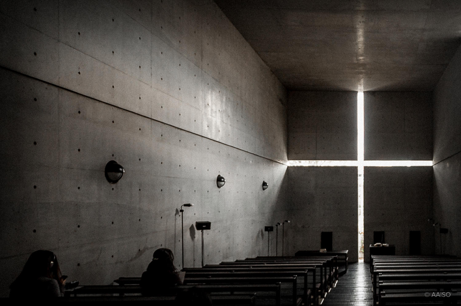 Interior View, Church of the Light, Osaka, Tadao Ando