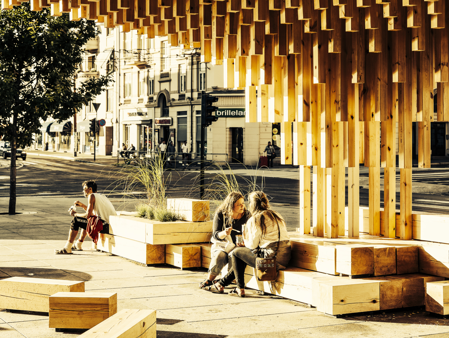 """Pusterom""/""Breathing space"", a wooden pavillion by norwegian ar"