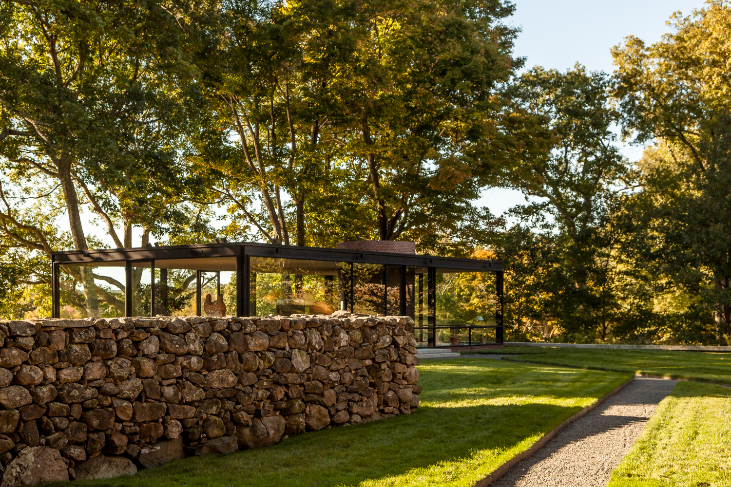 Philip Johnson's Glass House. Exterior