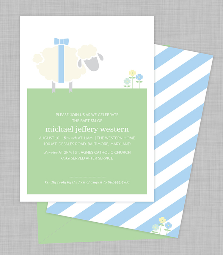 Michael's fave thing on the planet right now is his little, stuffed lamb, so of course he needed to be incorporated!