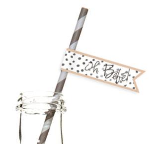Straw pennants always add a little extra fun!