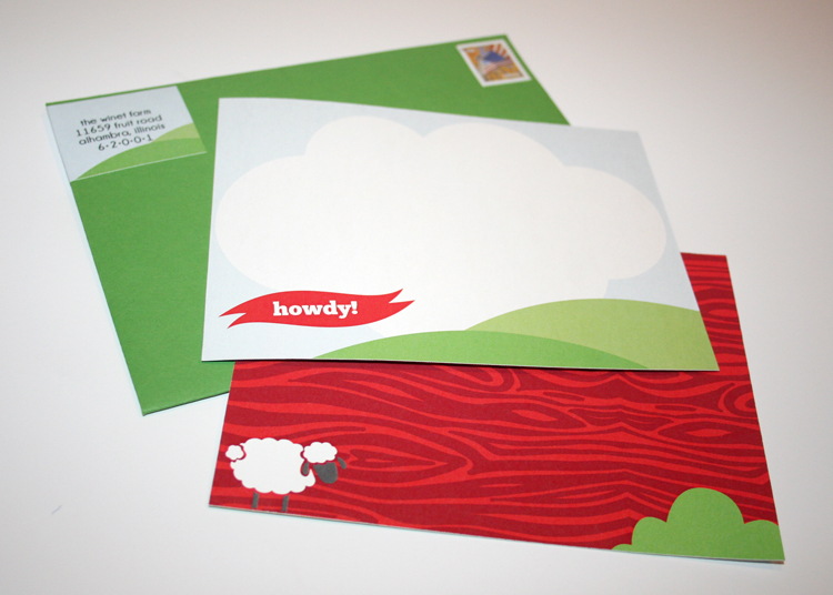 No party is complete without custom thank-you's to send your guests. Michael requested to send a little howdy!