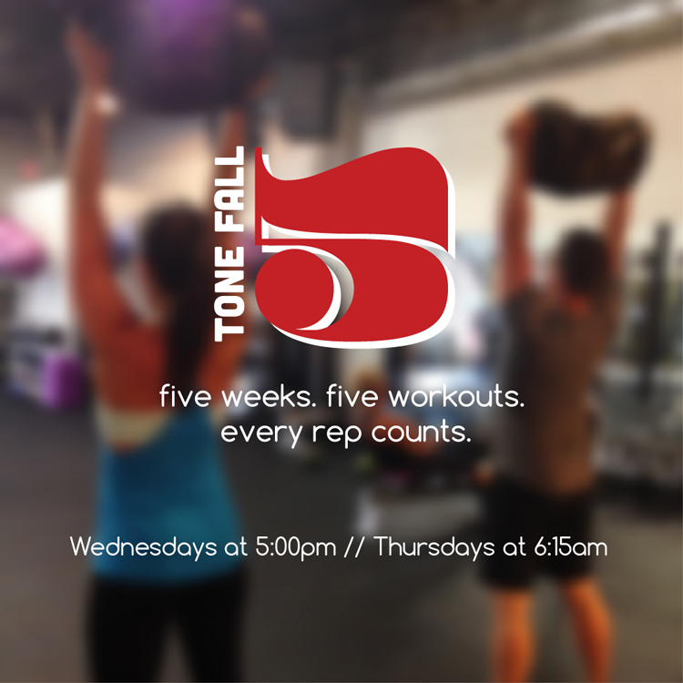 Tone Fall Five was a workout challenge that took place over five weeks in October.