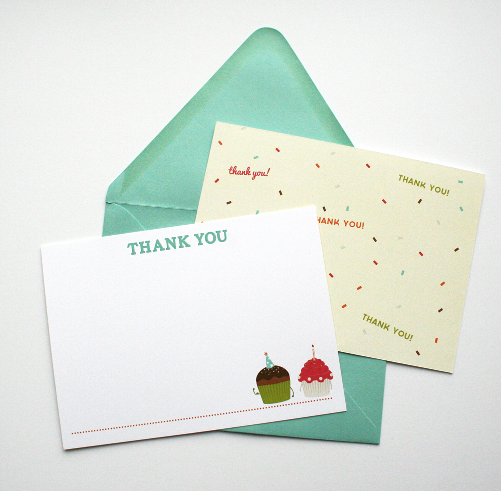 No party is complete without a little thank you to send to family and friends.
