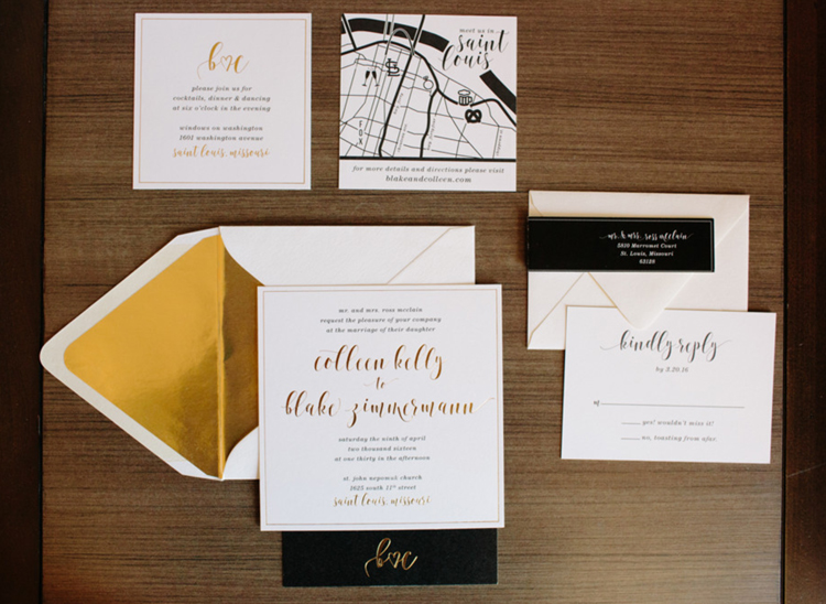 The full invitation suite.