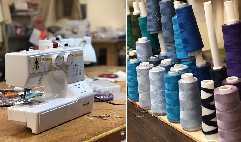 I finally learned to work a sewing machine… only three years after my mom bought me one! :)