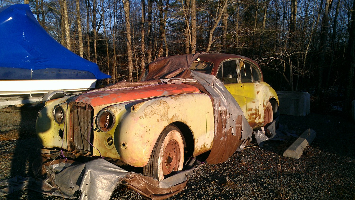 saw this on the back lot of the storage facility last week, one of a row of three rotting beauties. sigh.