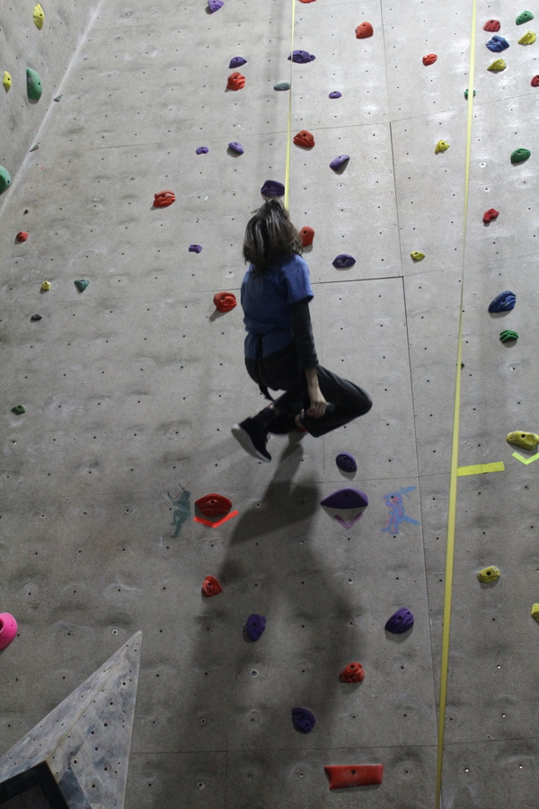 (ticked off ... like when he pretends to pass out when descending on the auto-belay at the gym.  sigh).