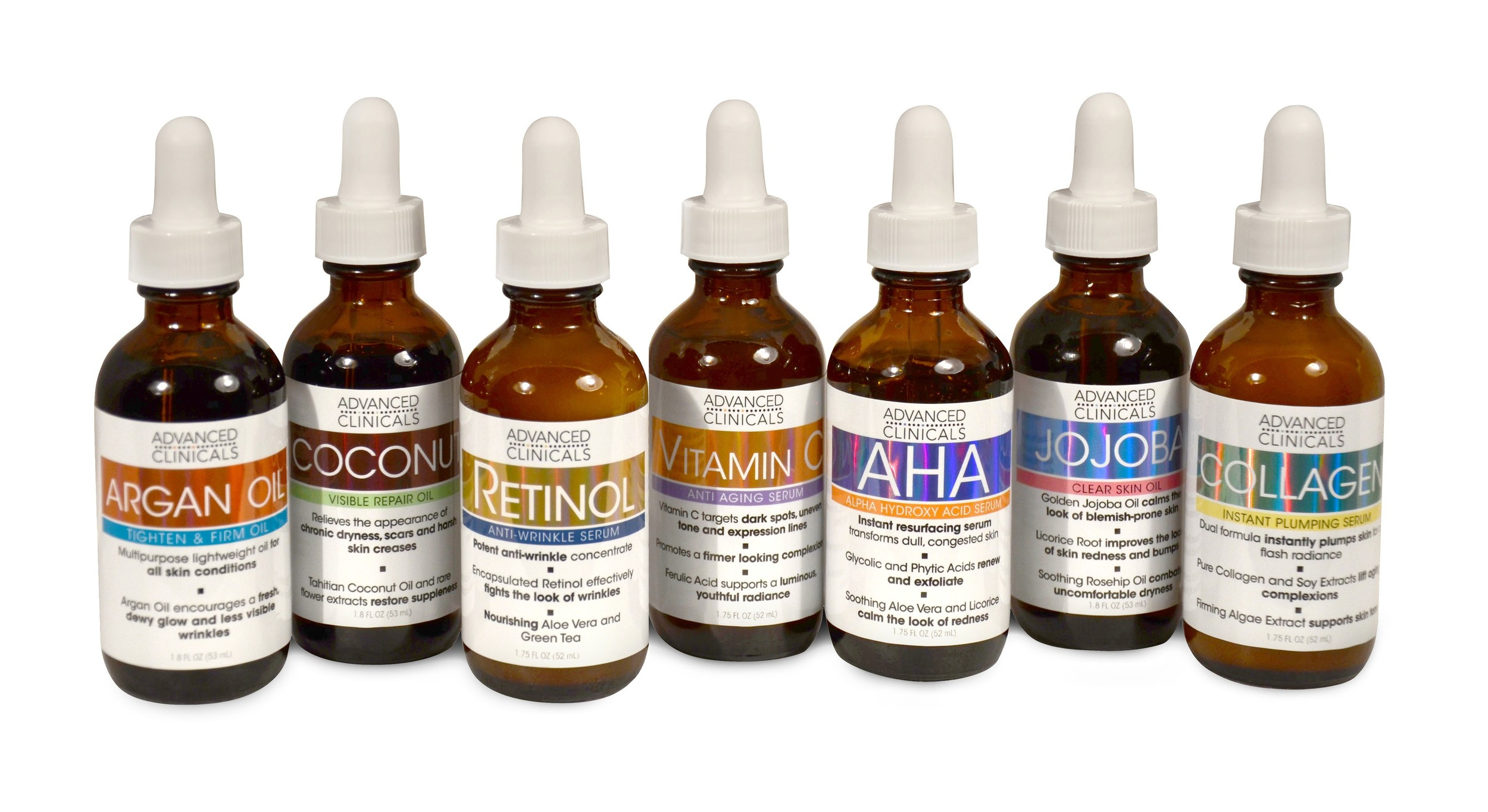 Advanced Clinicals premium face serums feature quality ingredients designed to transform your skin.