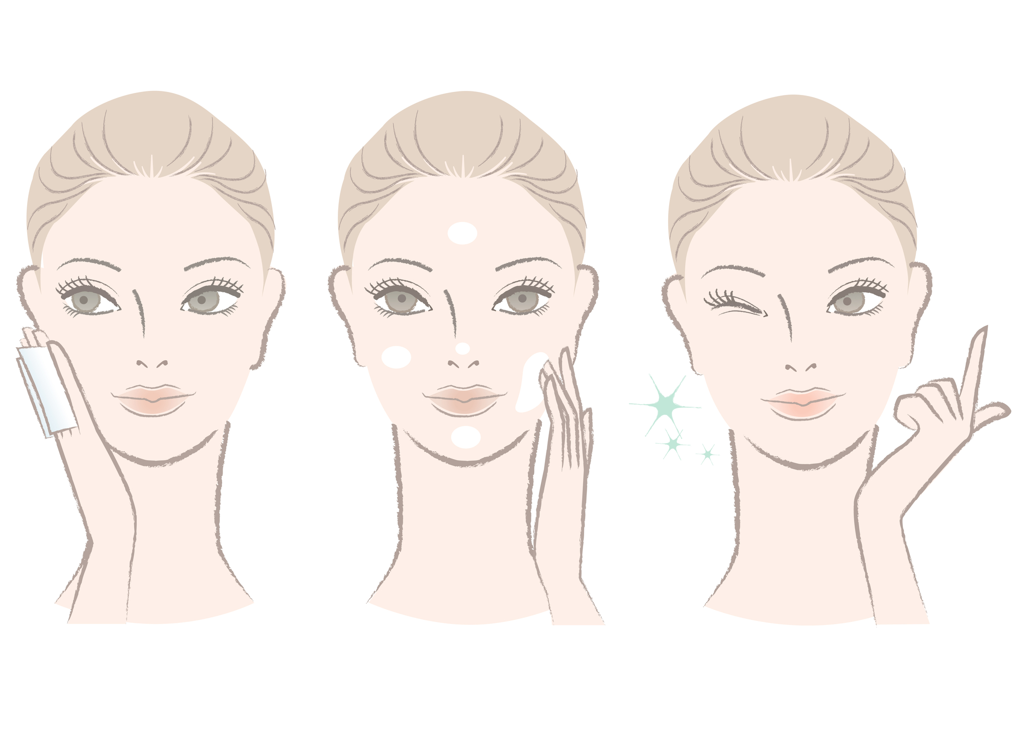 Clean face, gentle strokes, not too little, not too much, and tap.Image c/o dreamstime.com