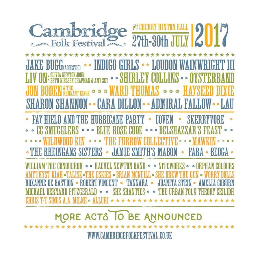 Cambridge Folk 2017