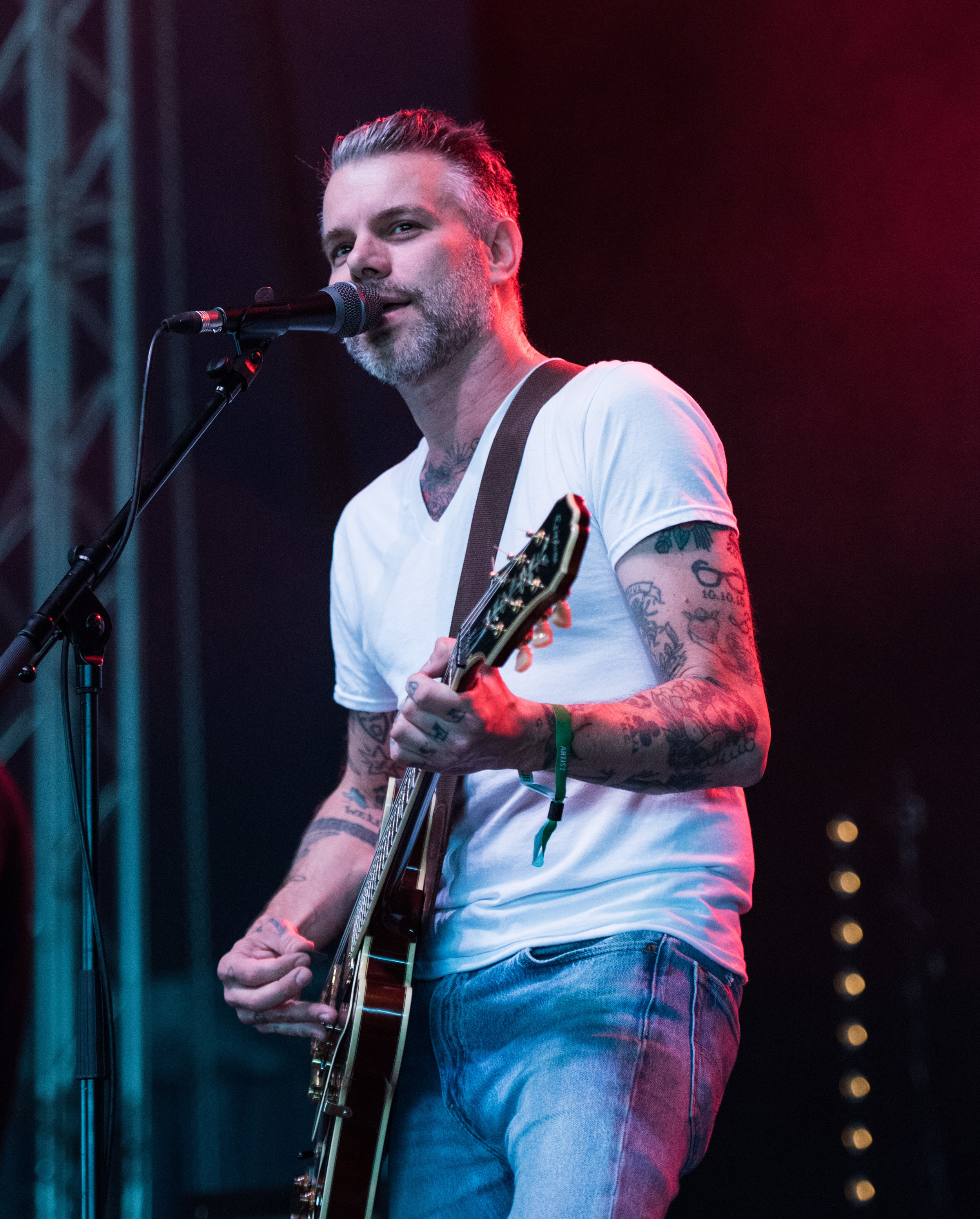 Ben Nichols of Lucero by Simon Green.