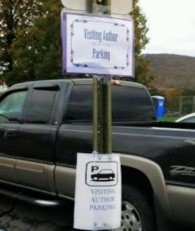 Martha really appreciated the VIP parking at Newport Elementary School.