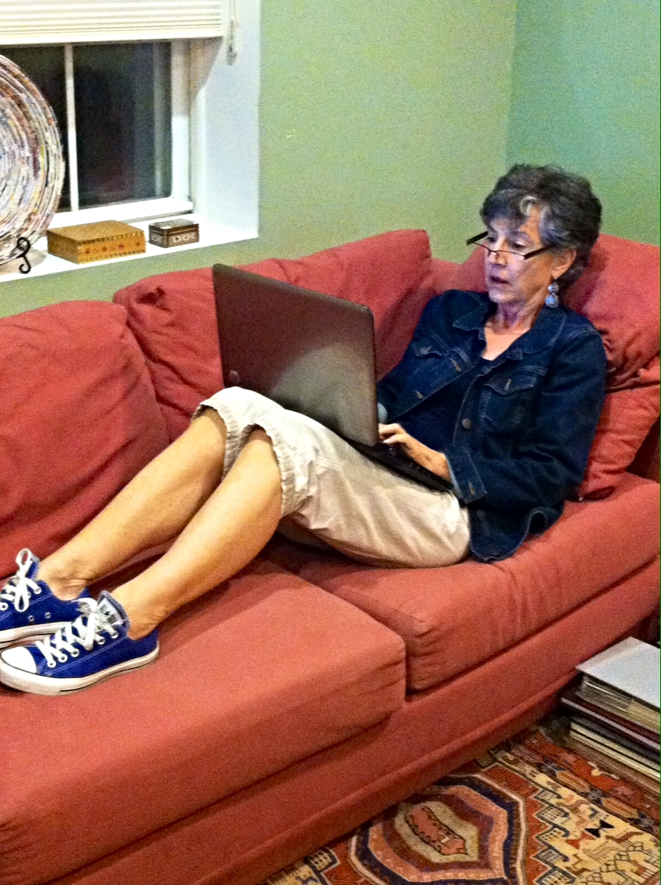 Ordinarily, Martha does not condone putting your shoes on the furniture.