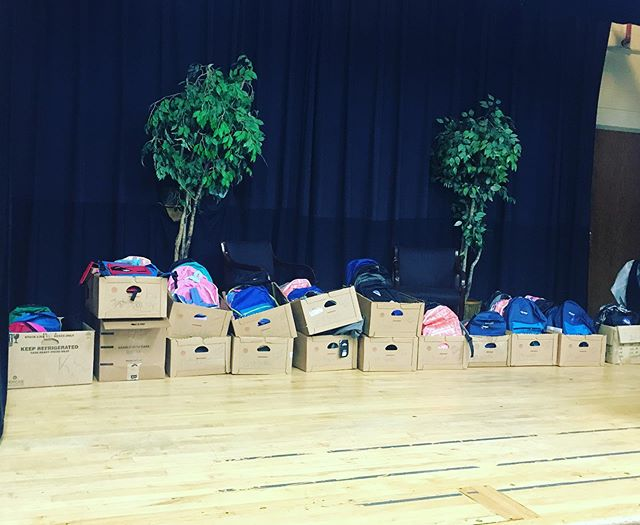 Last week some students helped fill 100 backpacks that the church was able to donate to Westside Christian Academy! Join us in praying for the students as they get ready to start school in a few days!