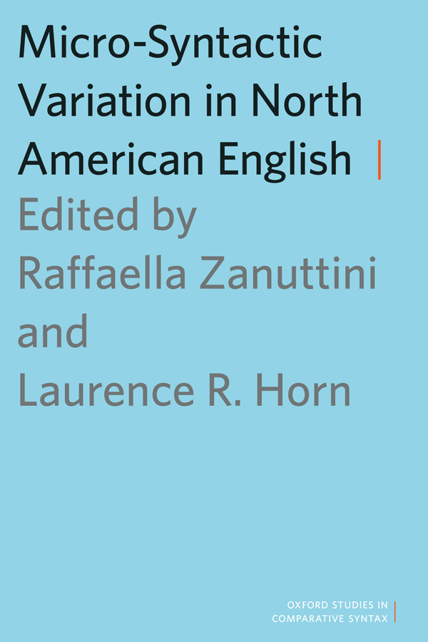 Zanuttini, R.  Negation and Clausal Structure: A Comparative Study of Romance Languages .
