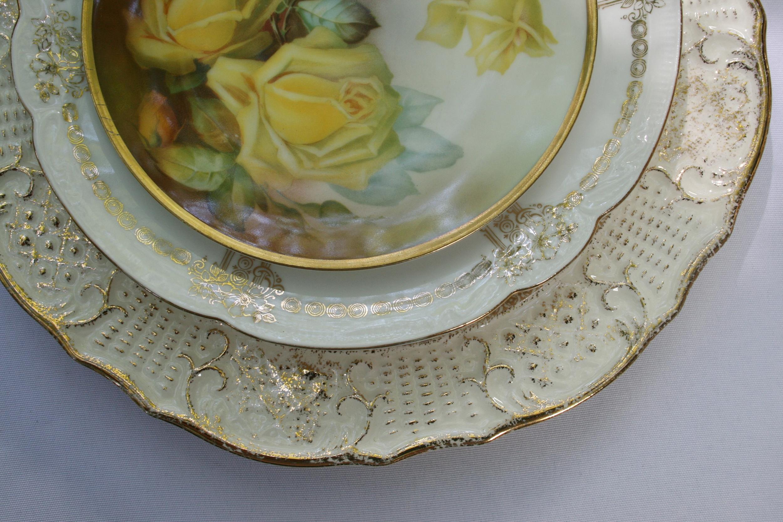 Vintage gold china