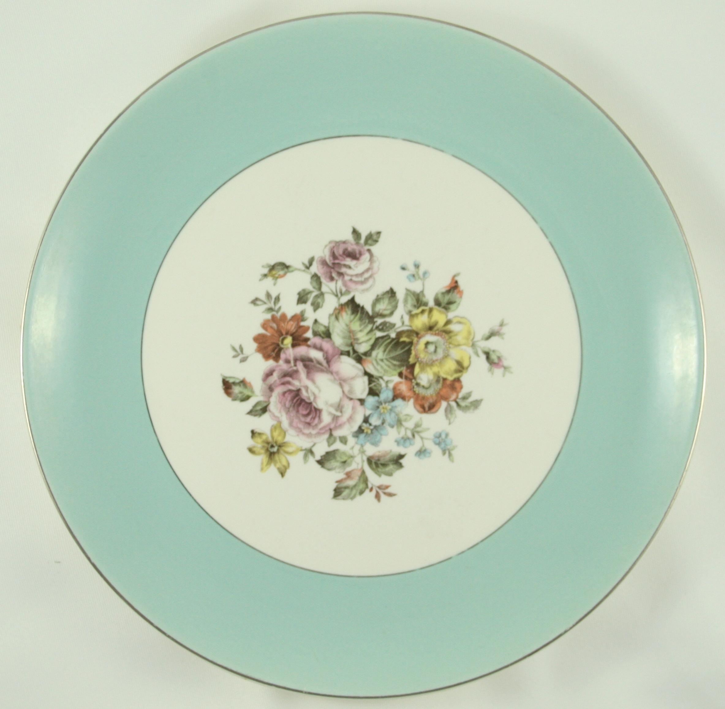 Vintage blue china plate